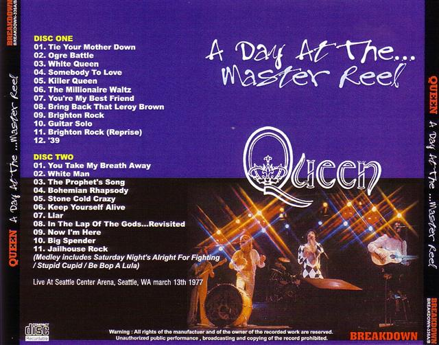 A Day At The Master Reel 2cdr